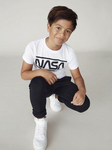 Biele chlapčenské tričko name it Nasa