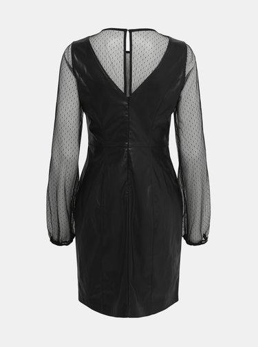 Černé šaty s povrchovou úpravou ONLY Britt