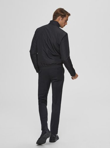 Čierna bunda Selected Homme Ethan