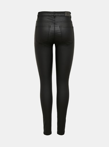 Černé kalhoty s povrchovou úpravou ONLY Gosh