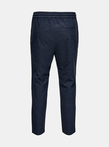 Tmavě modré kalhoty ONLY & SONS Linus