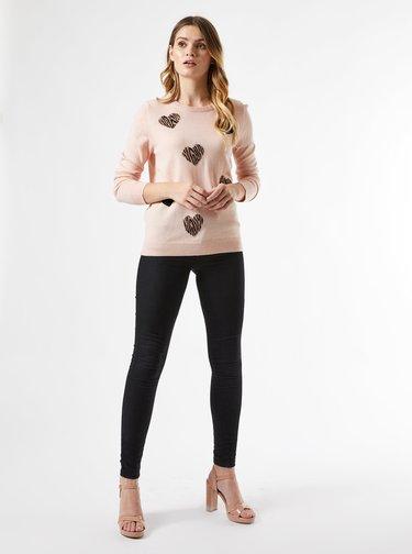Růžový vzorovaný svetr Dorothy Perkins