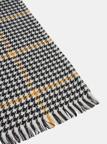 Žlto-čierny kockovaný šál ONLY Sia