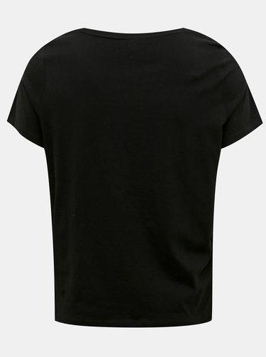 Čierne tričko ONLY CARMAKOMA Vernon