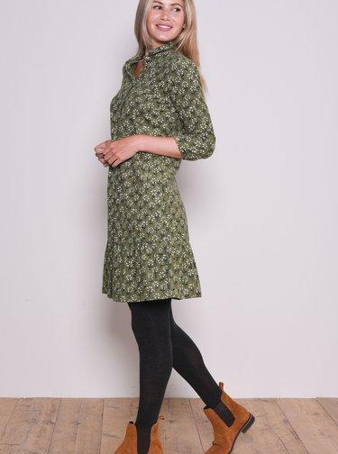 Zelené vzorované košeľové šaty Brakeburn