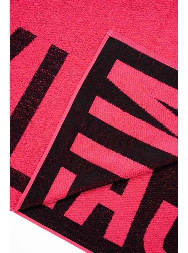 Calvin Klein růžová osuška Towel Pink Glo s logem