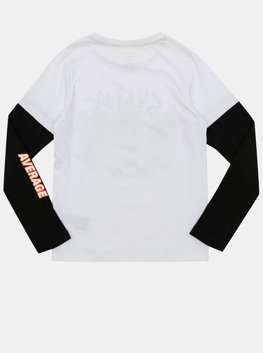 Čierno-biele chlapčenské tričko name it Nader