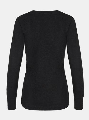 Čierne dámske tričko s potlačou LOAP