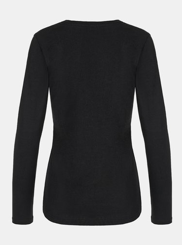 Čierne dámske kvetované tričko LOAP