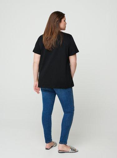 Čierne tričko s potlačou Zizzi