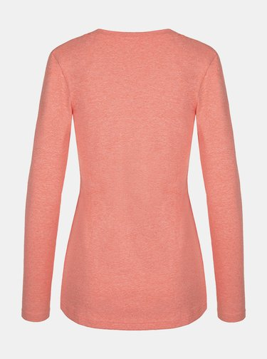 Ružové dámske kvetované tričko LOAP