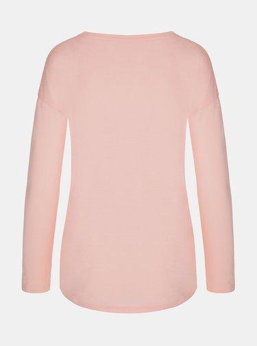 Růžové dámské tričko s potiskem LOAP