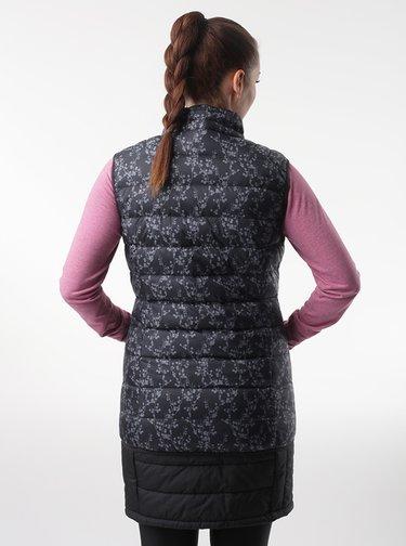 Čierna dámska vzorovaná vesta LOAP