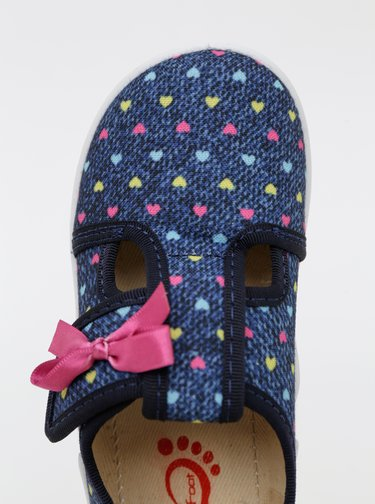 Modré dievčenské vzorované topánky 3F