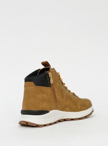 Hnedé pánske členkové zimné topánky Tom Tailor