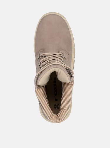 Béžové dámske členkové topánky LOAP