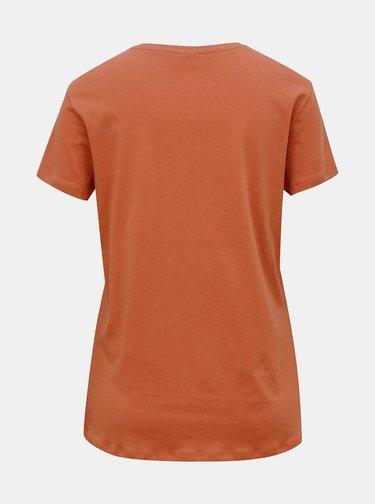 Cihlové tričko Jacqueline de Yong Brenda