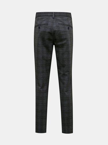 Šedé kockované nohavice ONLY & SONS Mark