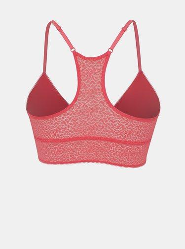 Růžová krajková podprsenka DKNY