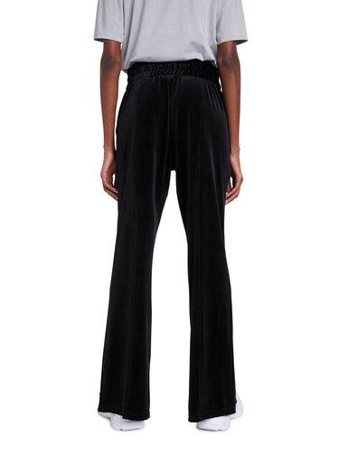 Desigual černé tepláky Pant Pintuck Solid Color Black Velour