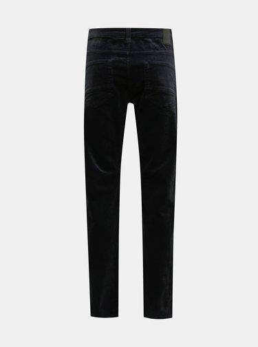 Tmavě modré manšestrové kalhoty ONLY & SONS Loom