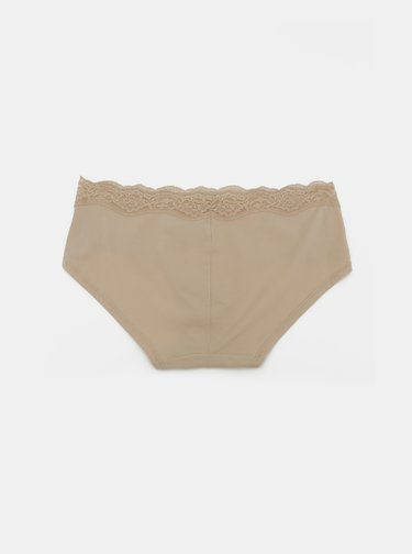 Béžové kalhotky s krajkou DKNY