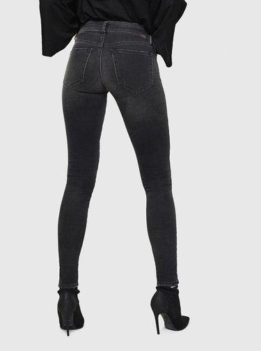 Tmavě šedé dámské skinny fit džíny Diesel