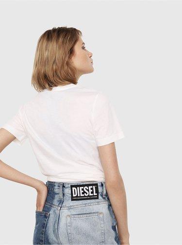 Biele dámske tričko Diesel