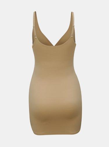 Béžová stahovací košilka DKNY