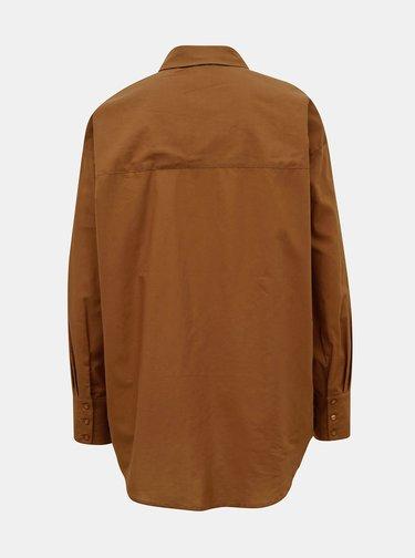 Hnedá voľná košeľa AWARE by VERO MODA India