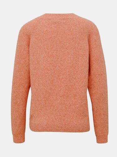 Oranžový žíhaný sveter VERO MODA Doffy