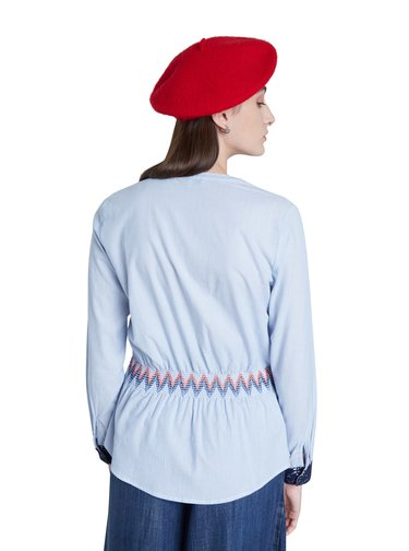 Desigual modrá vypasovaná košile Blus Dante