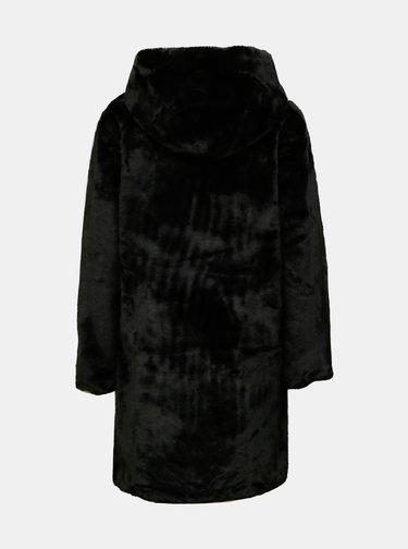 Čierny zimný kabát z umelého kožúšku Jacqueline de Yong Tit