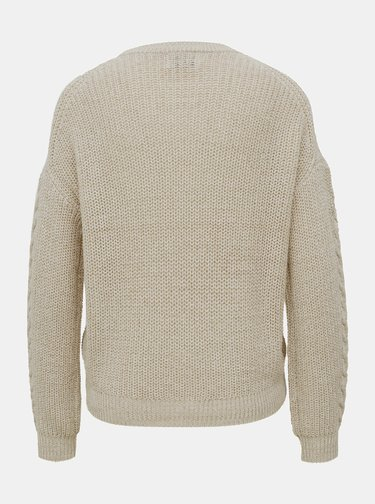 Krémový sveter ONLY Rosie