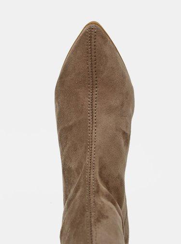 Béžové kotníkové boty v semišové úpravě OJJU