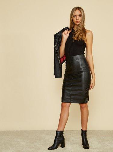 Čierna púzdrová koženková sukňa ZOOT Alicia
