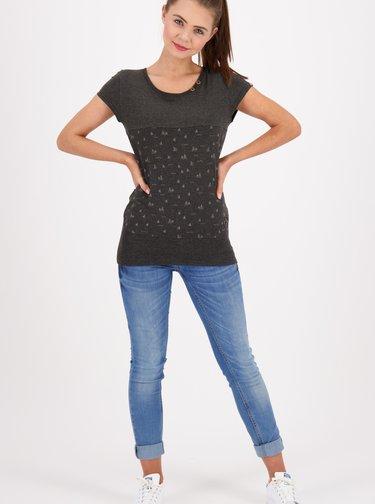 Šedé dámské vzorované tričko Alife and Kickin