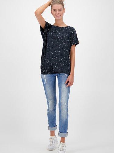 Černé dámské vzorované tričko Alife and Kickin