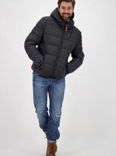 Černá pánská zimní prošívaná bunda Alife and Kickin