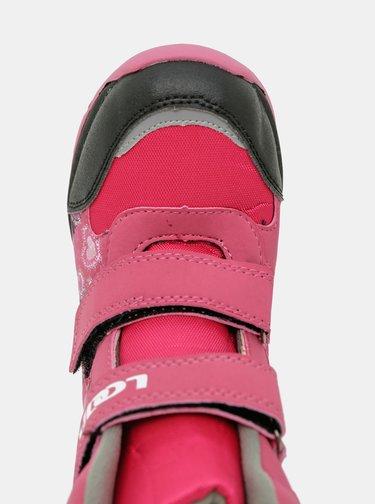 Růžové holčičí zimní boty LOAP