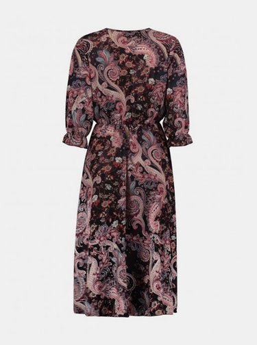 Čierno-ružové vzorované šaty Haily´s