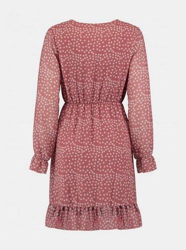 Starorůžové putíkované šaty Haily´s