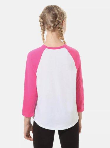 Bielo-ružové dievčenské tričko VANS