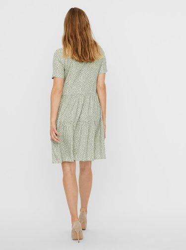 Světle zelené vzorované šaty VERO MODA Simone