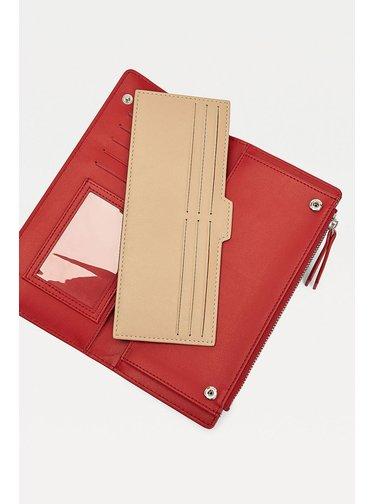 Tommy Hilfiger červená peněženka Seasonal Slim Wallet