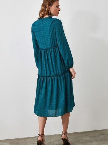 Petrolejové šaty Trendyol