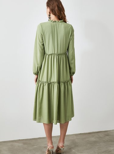 Svetlozelené šaty Trendyol