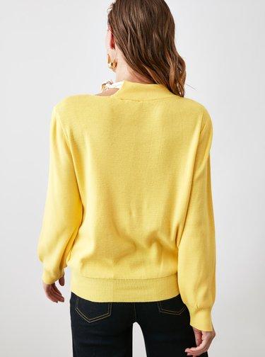 Žlutá mikina Trendyol