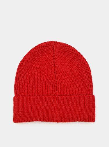 Červená vlnená čiapka Diesel