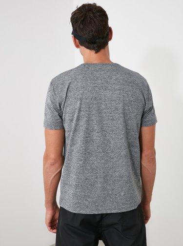 Šedé pánske tričko Trendyol
